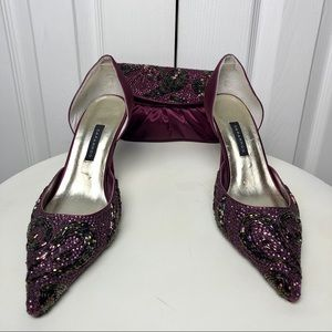 Caparros Shoe Size 7.5 with matching clutch